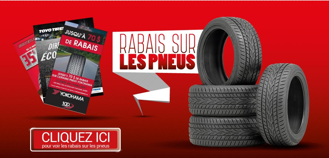 Promotions en cours au Centre de Pneus Tirecraft